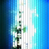 Colorful blue geometric background, abstract Royalty Free Stock Photography