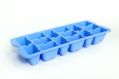 Colorful blue ice tray Stock Photo