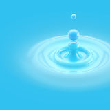 Colorful blue liquid drop background Stock Images
