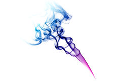 Colorful blue and purple smoke Royalty Free Stock Image