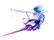 Colorful blue and purple smoke Stock Photography
