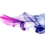 Colorful blue and purple smoke Stock Photos