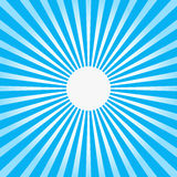 Colorful blue ray sunburst style abstract background Royalty Free Stock Photo
