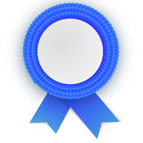 Colorful  blue rosette with empty paper plate. Place for text. Eps10 vector design Stock Images