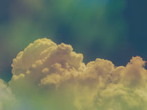 Colorful blue sky with filter effect. For abstract background Stock Image
