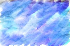 Colorful blue watercolor background for wallpaper. Aquarelle bri. Colorful blue watercolor wet brush paint liquid background for wallpaper. Aquarelle bright stock photos