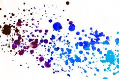 Colorful blue watercolor background for wallpaper. Aquarelle bri. Colorful blue watercolor wet brush paint liquid background for wallpaper. Aquarelle bright royalty free stock image