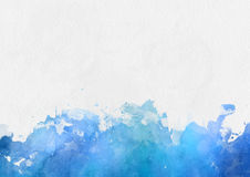 Colorful blue watercolor paint border Stock Photography