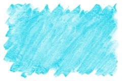 Colorful blue watercolor wet brush paint liquid background for wallpaper, card. Aquarelle bright color abstract hand drawn paper t. Exture backdrop vivid element stock image