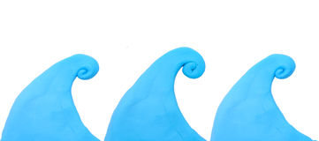 Colorful blue wave plasticine clay Royalty Free Stock Photo