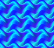 Colorful Blue Waves Background, Abstract. Stock Images