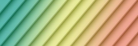 Colorful blue yellow pink geometric diagonal lines abstract banner wallpaper background. Abstract fractal background banner wallpaper featuring smooth 3d Stock Images