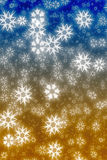 Colorful blue and yellow  snowflakes Royalty Free Stock Photos