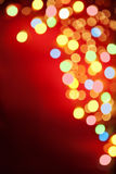 Colorful blur lamp on corner border Royalty Free Stock Photography