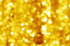 Colorful blur lights gold bokeh background Royalty Free Stock Image