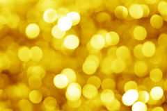 Colorful blur lights gold bokeh background, Christmas lights Stock Photo