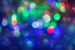 Abstract colourful bokeh background. Colorful blur vivid toned bokeh background stock photography