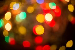 Abstract colourful bokeh background. Colorful blur vivid toned bokeh background stock photo