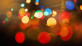 Abstract colourful bokeh background. Colorful blur vivid toned bokeh background royalty free stock photos