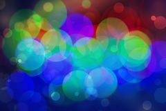 Abstract colourful bokeh background. Colorful blur vivid toned bokeh background royalty free stock images