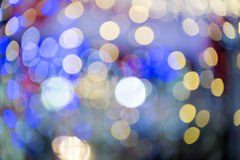 Colorful blured light background. Colorful background with defocused lights stock images