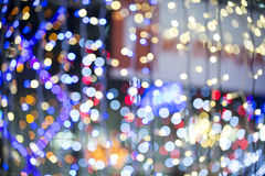 Colorful blured light background. Colorful background with defocused lights royalty free stock photos