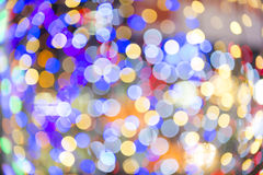Colorful blured light background. Colorful background with defocused lights royalty free stock photo