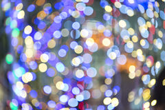 Colorful blured light background. Colorful background with defocused lights royalty free stock photography