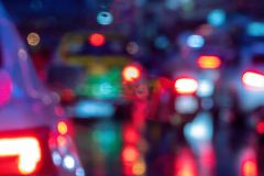 Colorful blurred abstract background from traffic jam on the road. royalty free stock image