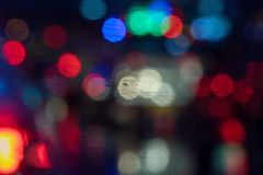 Colorful blurred abstract background from traffic jam on the road. stock photography