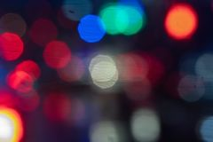 Colorful blurred abstract background from traffic jam on the road. royalty free stock photo