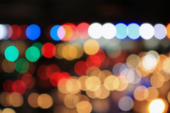 Colorful blurred bokeh of lights. Background Stock Photo