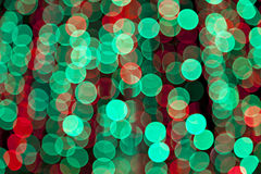 Colorful blurred bokeh lights Stock Images
