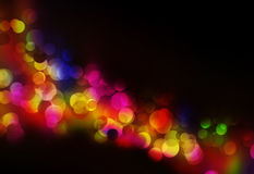 Colorful Blurred festive lights. At night Royalty Free Stock Photos