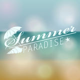 Colorful blurred hipster summer background with text Stock Image