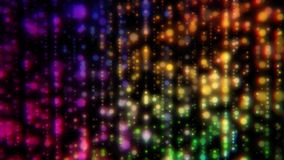 Colorful blurred lights stock footage