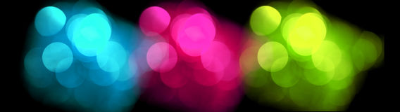 Colorful blurred lights, bokeh effect. Stock Image