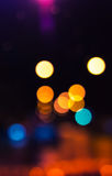 Colorful blurred lights, bokeh Royalty Free Stock Photo