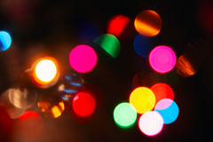 Colorful blurred lights, bokeh photo Royalty Free Stock Images