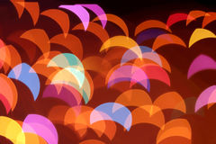 Colorful blurred lights decoration background Royalty Free Stock Photo