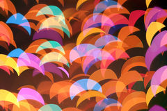 Colorful blurred lights decoration background Stock Photo