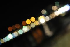 Colorful blurred lights in diagonal Stock Photography