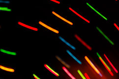 Colorful blurred motion holiday lights Royalty Free Stock Image