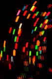 Colorful blurred motion holiday lights Stock Images