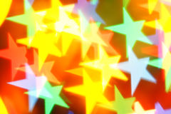 Colorful blurred stars Royalty Free Stock Photography