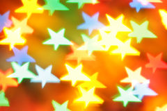 Colorful blurred stars Stock Images