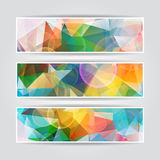 Colorful Blurred Triangular Polygonal header col. Abstract Colorful Blurred Triangular Polygonal header collection Royalty Free Stock Image