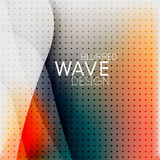 Colorful blurred wave business background Stock Photo