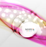 Colorful blurred waves with lights. This is file of EPS10 format Royalty Free Stock Images