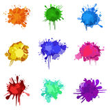 Colorful blurs. Set of colorful blurs for Your design Stock Photo